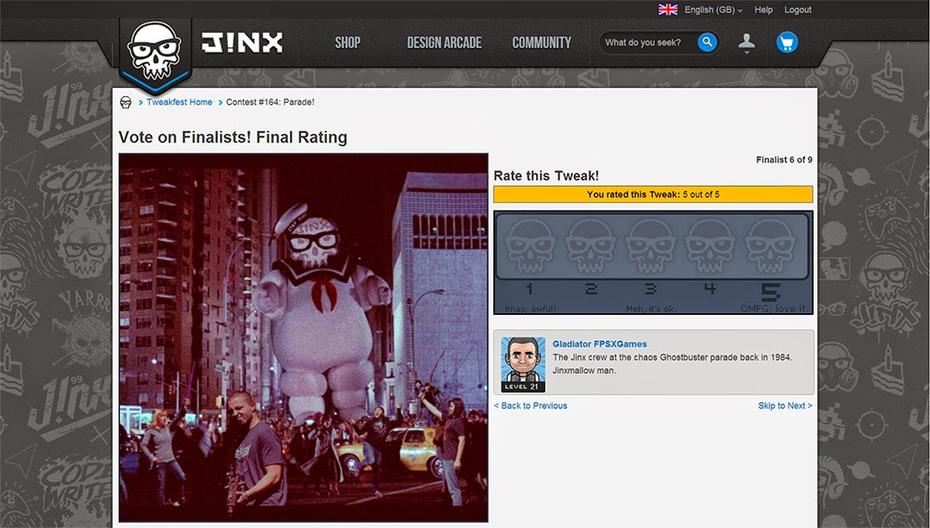 The Jinx tweakfest finalist FPSXGames vote page