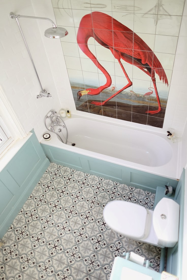 To da loos the flamingo bathroom - Flamant salle de bain ...