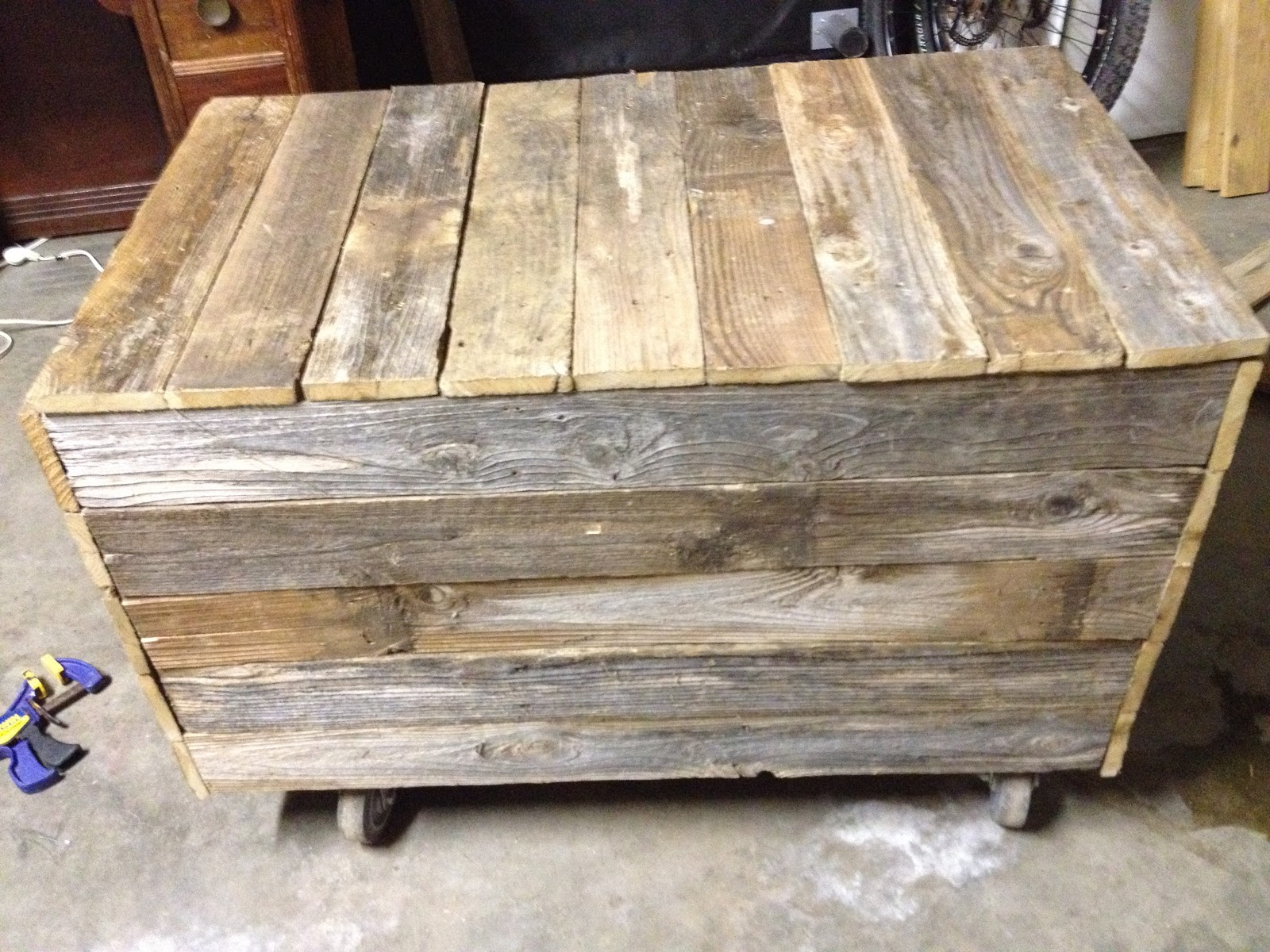 Old fence turned rustic wooden box brittany suell old fence turned rustic wooden box baanklon Image collections
