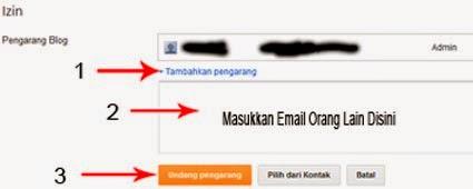 Mengundang Email Orang Menjadi Penulis Blog