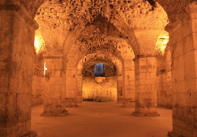 sótano del palacio de Diocleciano de Split - Juego de Tronos en los siete reinos