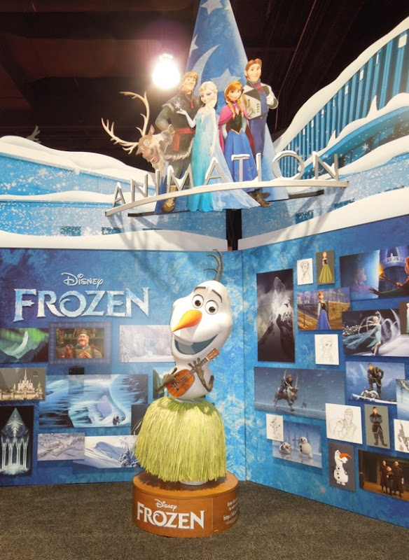 Disney Animation Frozen exhibit D23 Expo