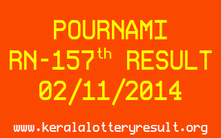 POURNAMI Lottery RN-157 Result 02-11-2014