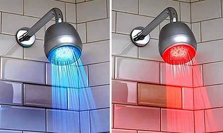 colorfull shower with sensor light