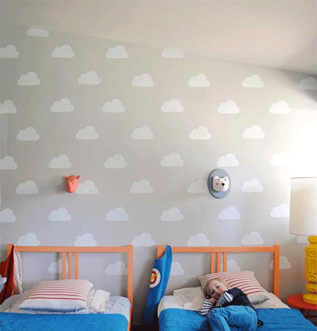 """""""Decorar_la_habitación_infantil_con_nubes"""""""