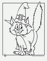 Free Halloween Cat Coloring Pages For Kids 2