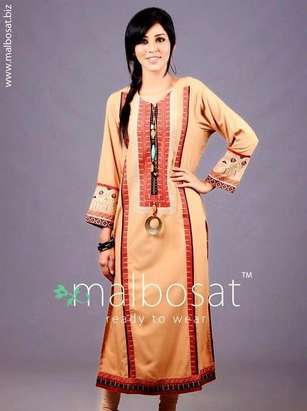 Malbosat Embroidered Kurta