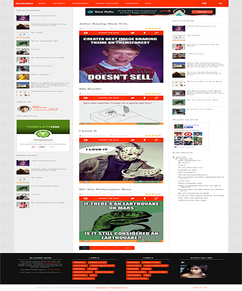 Seo Friendly Gagism Responsive Blogger Template
