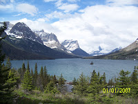 St. Mary Lake and Goose Island