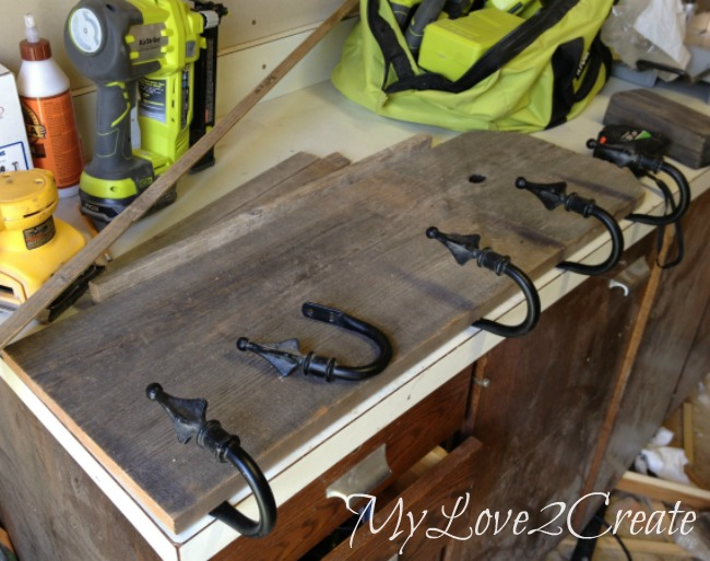 dry fitting curtain tie backs onto wood