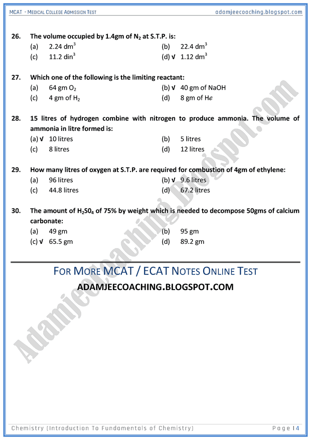 mcat-chemistry-introduction-to-fundamentals-of-chemistry-mcqs-for-medical-entry-test