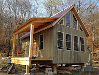 Adam and karen 39 s tiny house in equinunk pa step 2 for Off grid cabin foundation