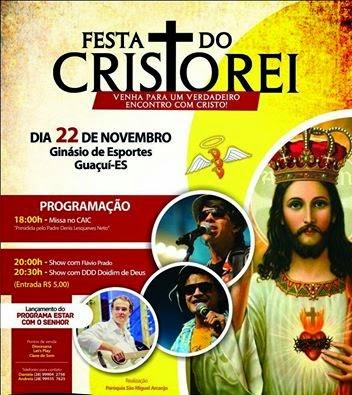 Festa do Cristo Rei em Guaçuí