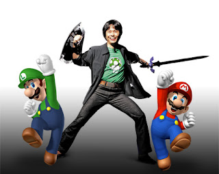 Shigeru Miyamoto With Mario & Luigi