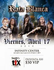 """RATA BLANCA EN EL """"INFINITY CENTER"""" (EE.UU.) - 17/04/2015"""