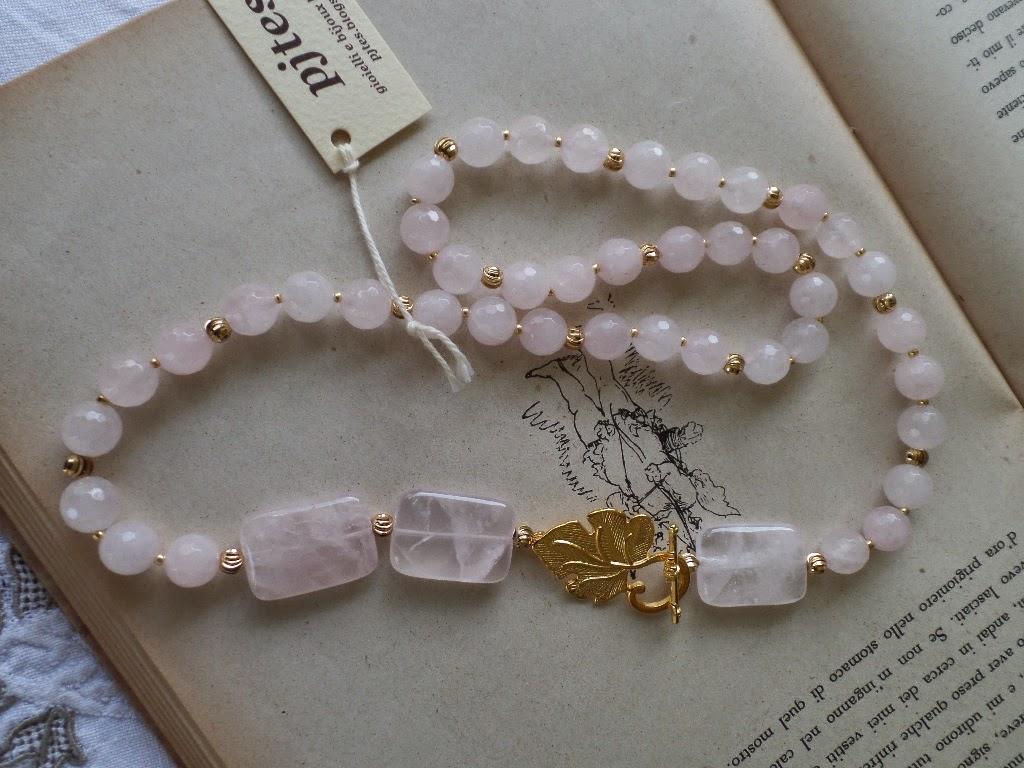 spesso pjtes : Le pietre della salute: collana princess in QUARZO ROSA BL96