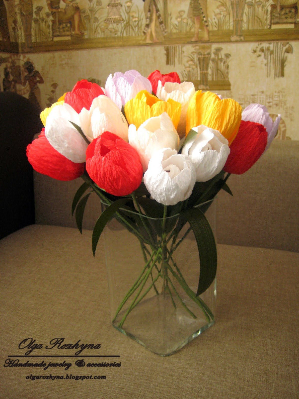 Тюльпаны из конфет своими руками мастер класс фото