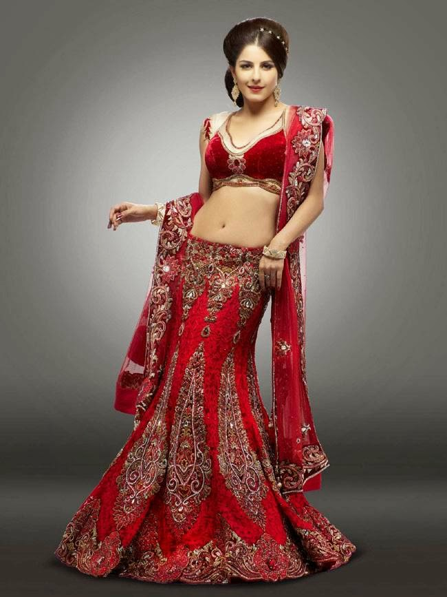 Isha Talwar In Red Designer Lehenga