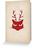 deer cat stencil