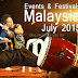 Events and Festivals in Malaysia for July 2015