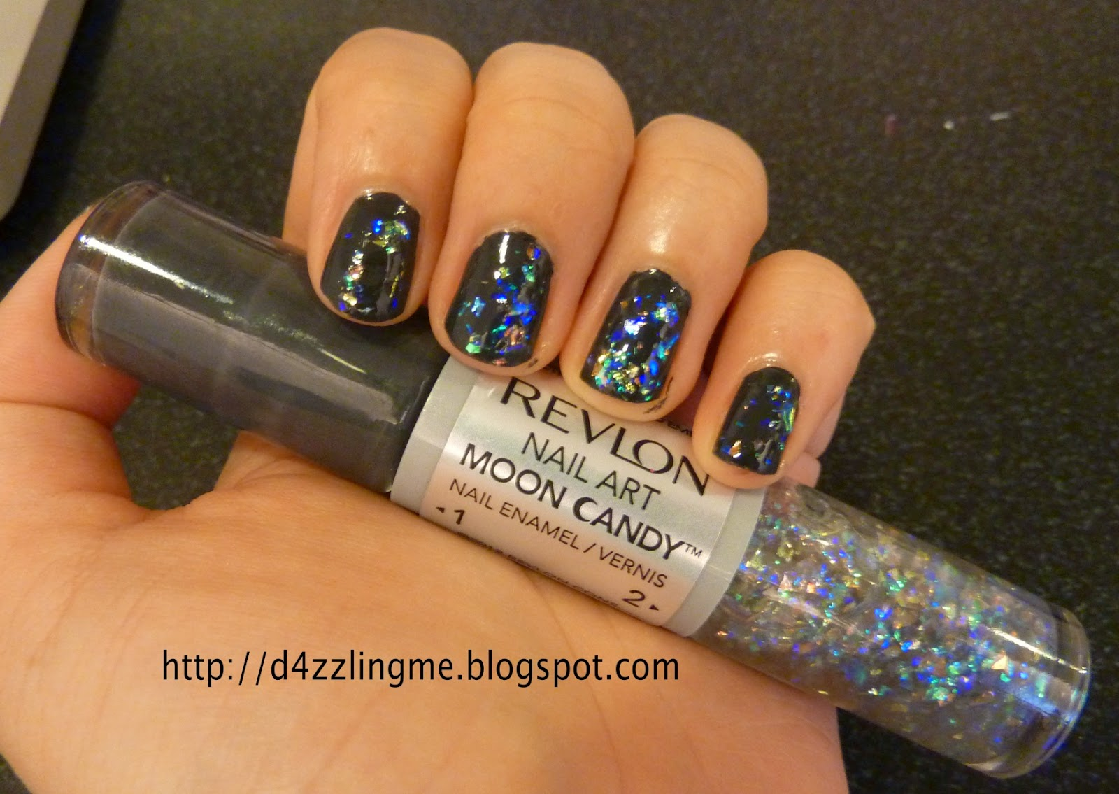D4zzling Me Revlon Nail Art Moon Candy 220 Milky Way Swatch