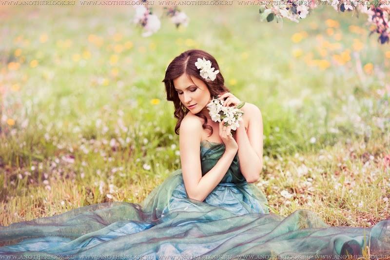 Фото на траве девушки фотосессия