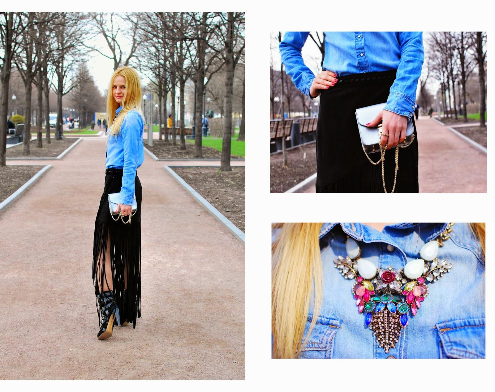 fashion collage, blog total denim, модные блоггеры весна 2015, уличная мода,Ирина Павлова блог