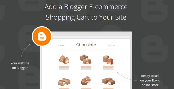 Ecwid shopping cart for blogger platform