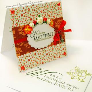 scrapbooking kartka dzień babci kartki okolicznościowe card making