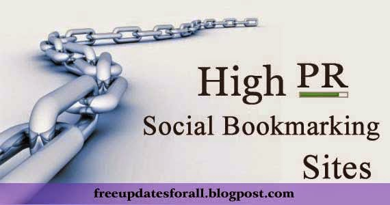 Free High PR Social Bookmarking Sites List 2015