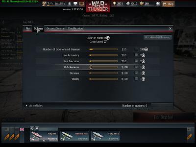 War Thunder - Crew 1 Gunner Stats