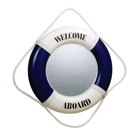 New Nautical Life Ring Mirror