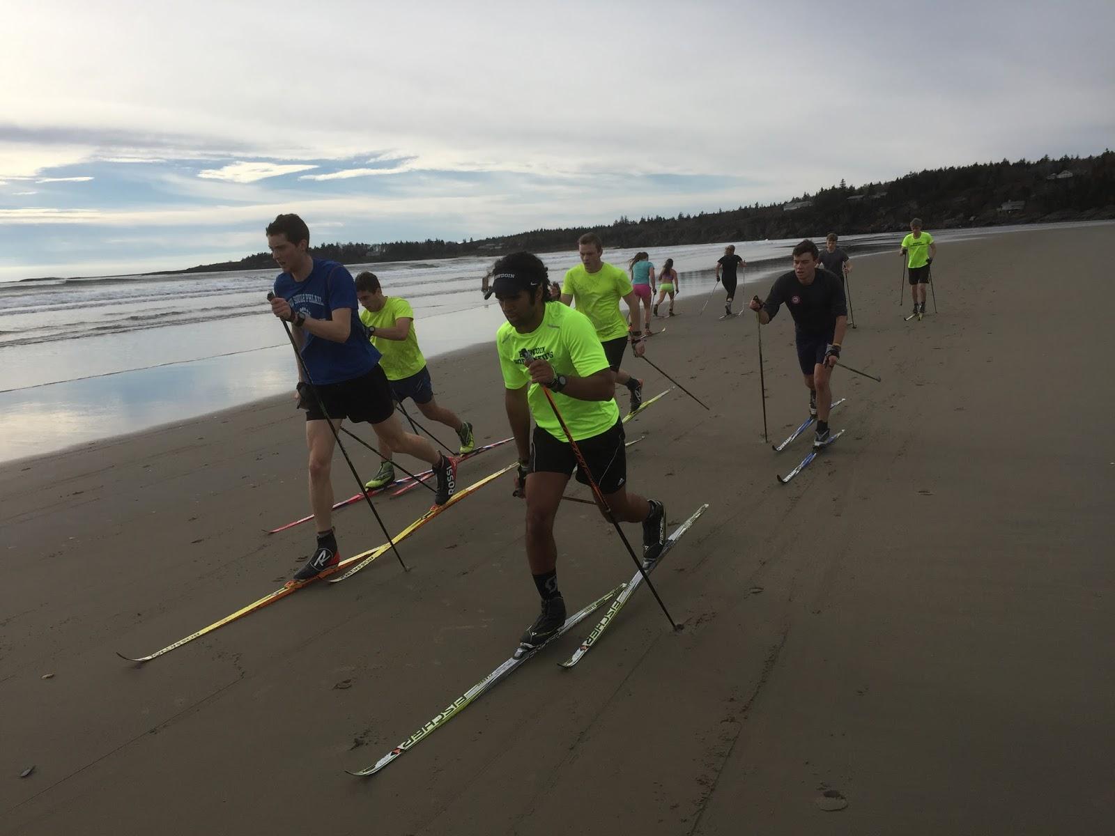 Bowdoin Nordic: Treadmill, Beach Skiing, & Lobster Roll