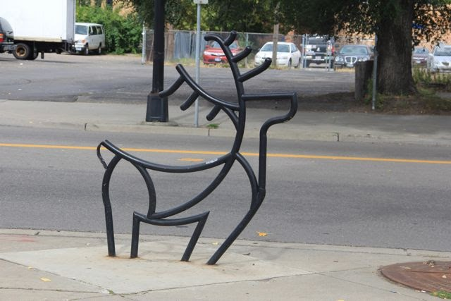 stylized deer bike rack