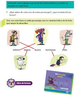 Respuestas Apoyo Primaria Español 2do grado Bloque 4 lección 5 El mundo al revés
