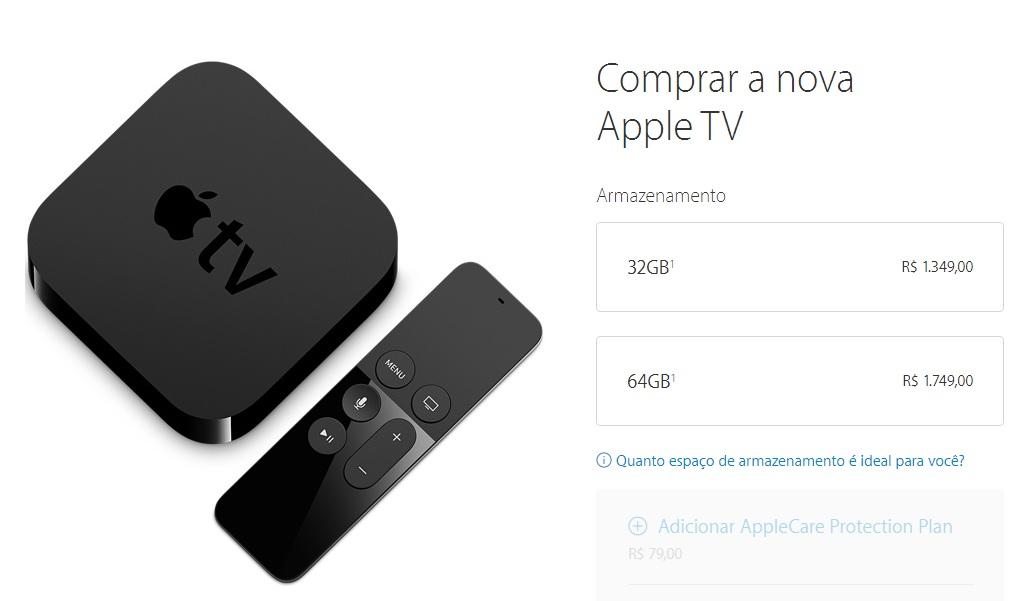 Nova Apple TV de 4ª geração