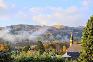 View from knockendarroch in Pitlochry