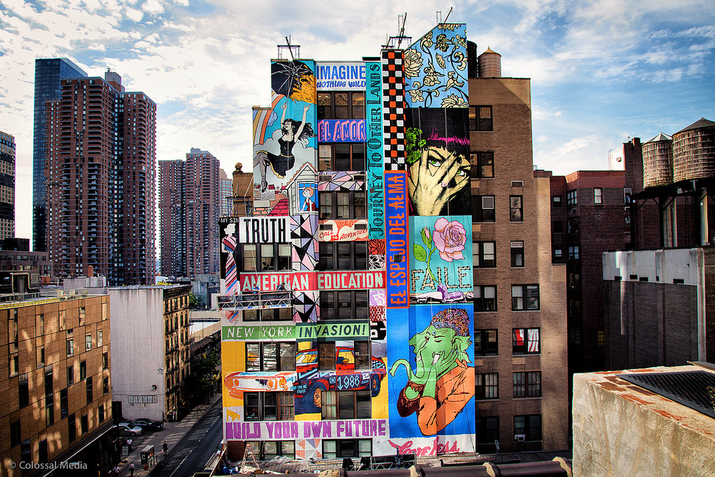 Popular Street Art By Faile On The Streets Of New York City USA