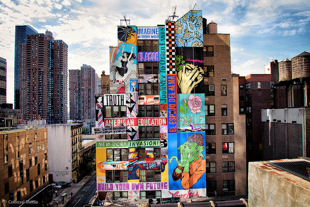 Faile new mural on 44th street in new york city usa for Dallas mural artists