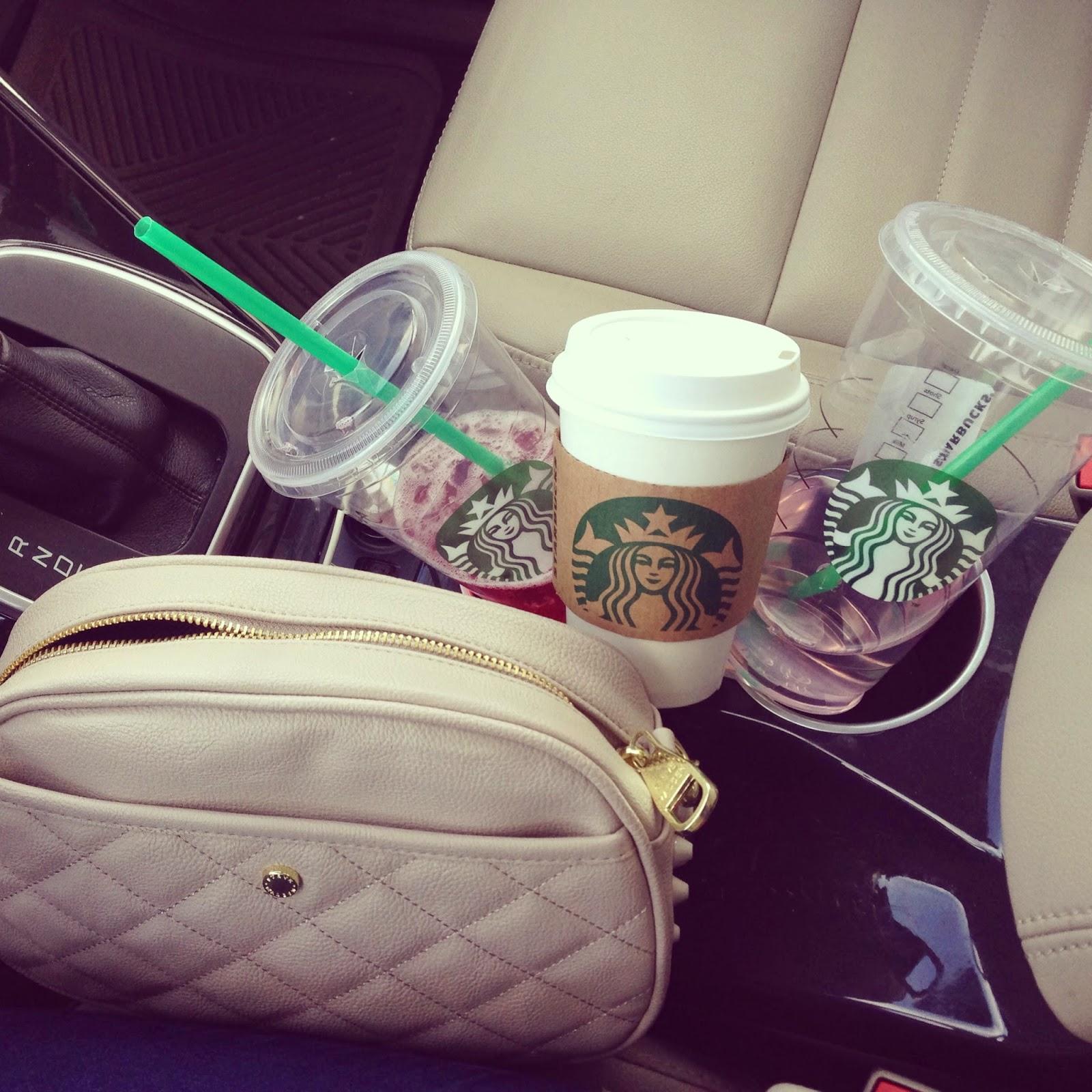 starbucks, white girl problems, instagram, starbucks addiction, natalie craig, natalie in the city, fashion blogger, caffine fix, white girl probs, car