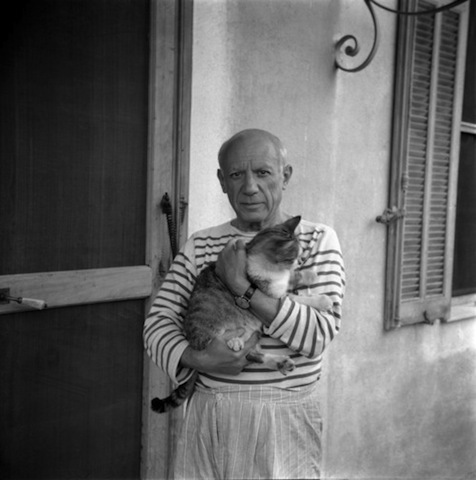 Picasso and his Siamese cat