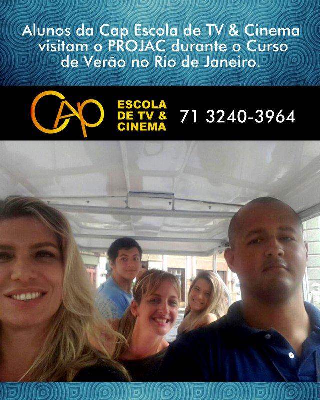 TALENTOS DA CAP ELENCO VISITAM PROJAC