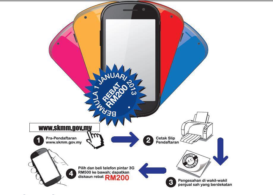 Tiada Had Harga Beli Telefon Pintar 3G Untuk Rebat RM200