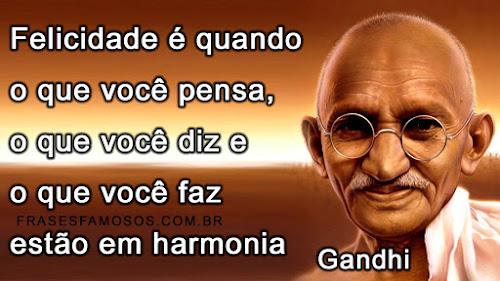 Mensagem de Gandhi