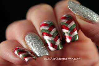Christmas Fishtail Manicure