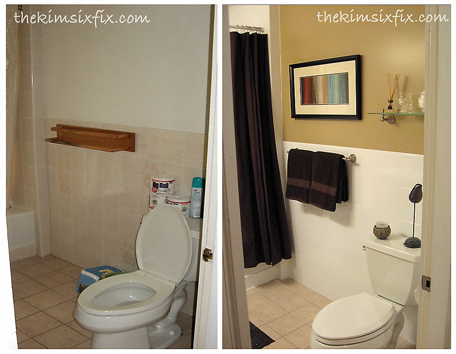 Bathroom Makeovers Tile guest bathroom makeover (flashback friday) - the kim six fix