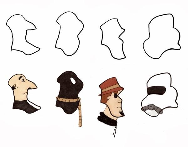 Character Design Shape Challenge : Vince bayless illustration design a character september