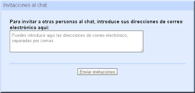 Google Talk. Invitar al chat.