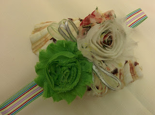 how to make Shabby Headband