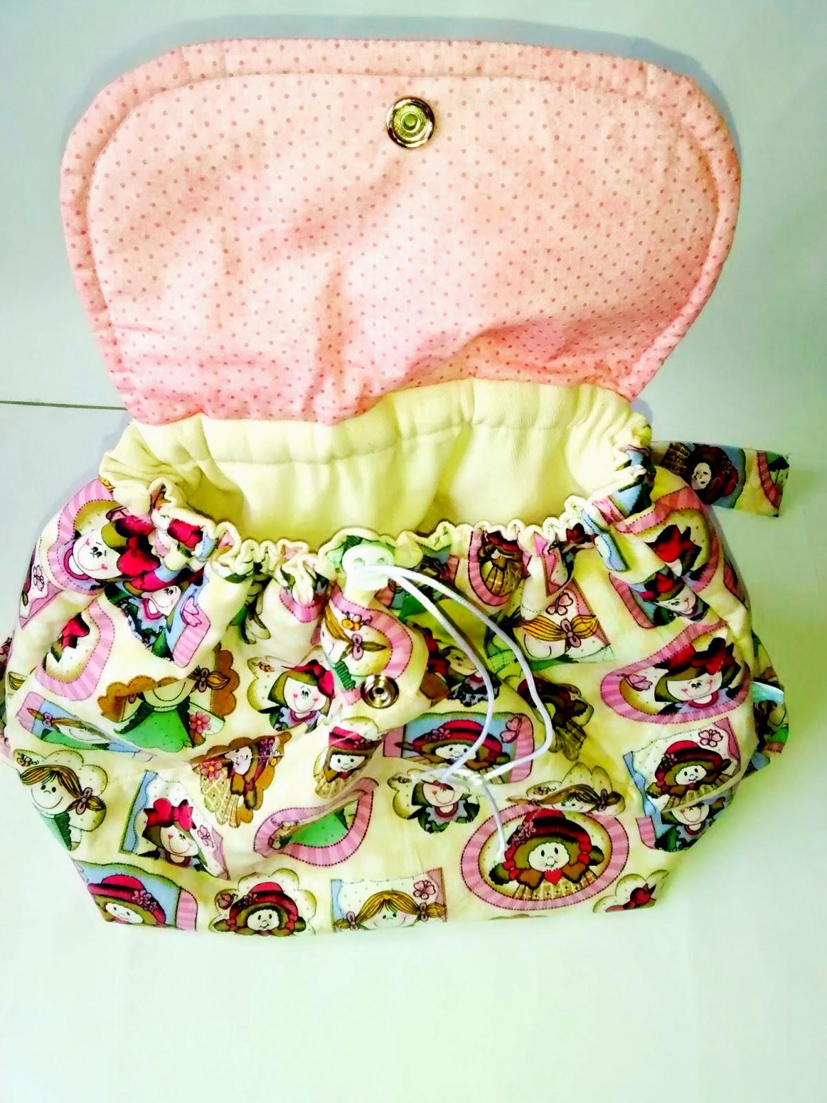 Mochila infantil de tecido | @ateliemadrica